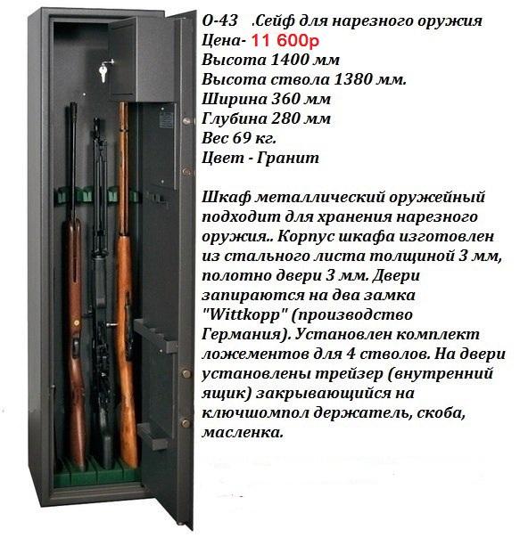 правила хранения охотничьего ружья и патронов вывести лишнюю
