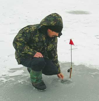 По тонкому льду добычлива ловля щуки на жерлицы, особенно активна хищница в оттепели.