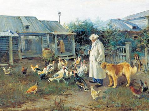Картина Алексея Степановича Степанова «Утренний привет», 1897 год.