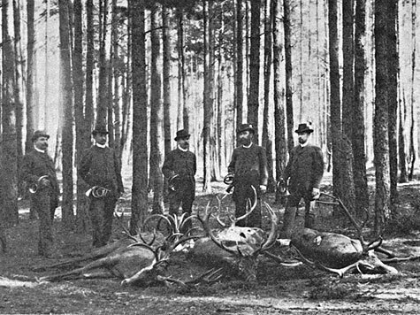 Фото из архива редакции. Царская охота в Спале. 1894 год
