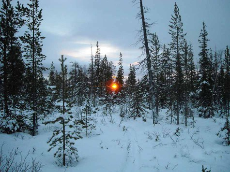 Когда я опомнился, солнце уже на горизонте, а темнеет зимой очень резко. Фото Сергея Сорокина