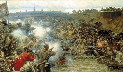 «Покорение Сибири Ермаком», В.И. Суриков, 1895 г.