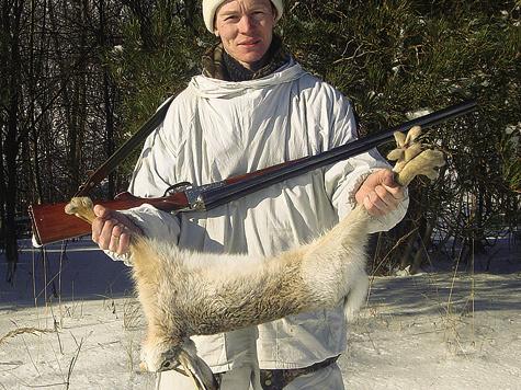 Лучшая охота бывает после того, как первый снег выпадет на«теплую» землю истает.