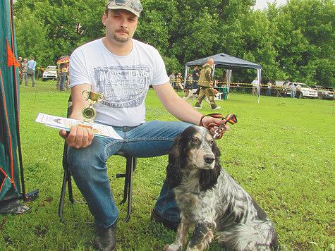 Чемпион — русский охотничий спаниель Агат. Фото автора.