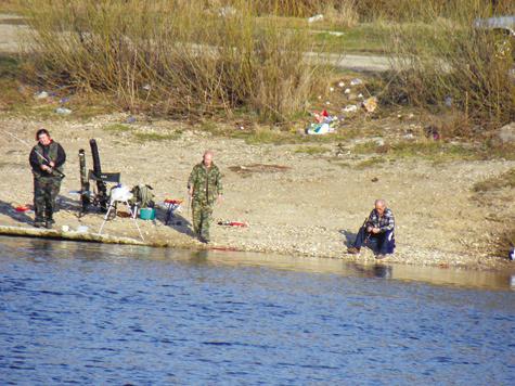 места ловли на канале