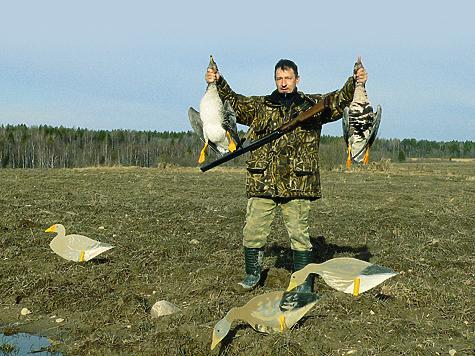 Гусиные профили, в отличие от объемных приманок, занимают меньше места, и это становится особенно важным, когда охотник вынужден переносить все снаряжение на себе.