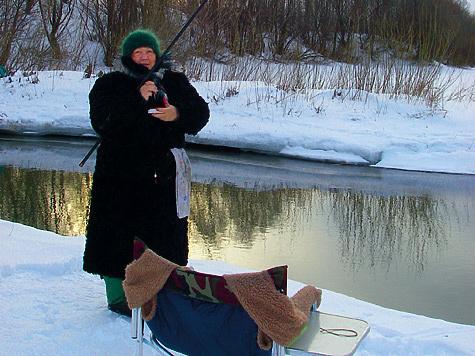 Зимой по открытой воде