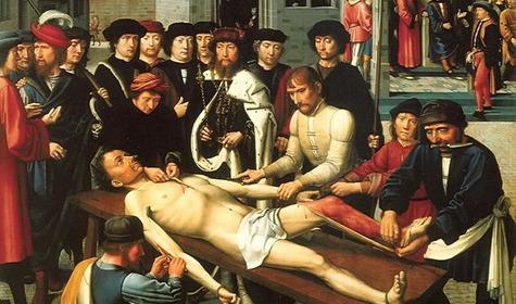 """""""Сдирание кожи с продажного судьи"""" (1499) Герард Давид"""