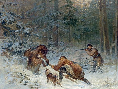 Старая лайка спасла охотника от медведя