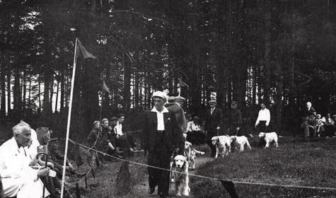 Ринг английских сеттеров, 1947 год. Фото из архива семьи Злобиных.