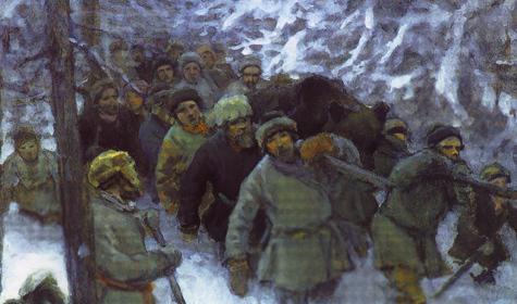 Облава. А.С. Степанов (1858–1923). Бумага, акварель, белила.