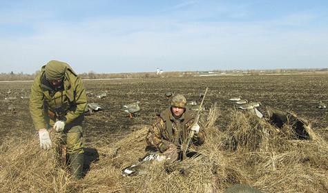 Лежачие засидки на гусей - Охота в Татарстане