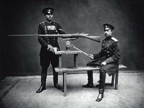 Устройство для пристрелки винтовок системы «Бердан №2».