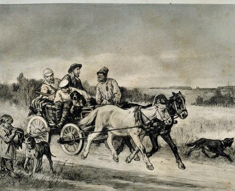 А. Степанов. «На охоту». 1882 г.