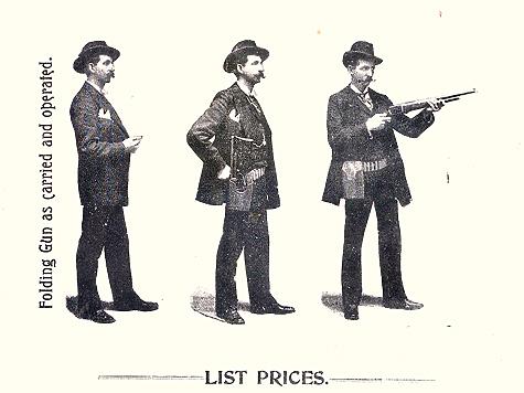В сложенном состоянии ружье Берджесса убиралось в поясную кобуру, которую носили на поясе.