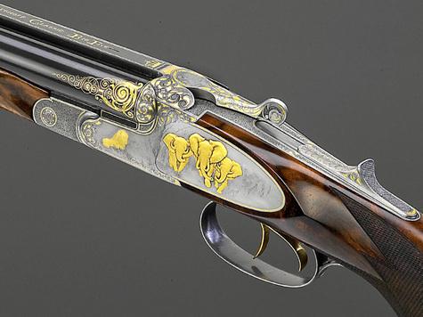 1-й этап осмотра состоит из зрительной оценки целостной гармонии форм охотничьего ружья...