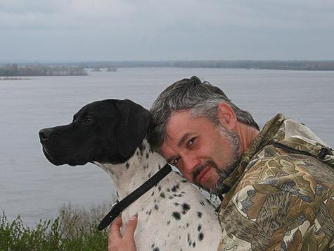 Борис Сливчиков со своей собакой