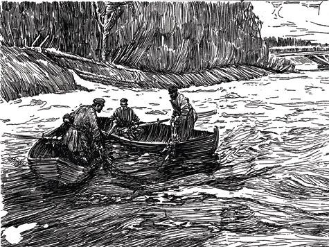 Невода, длина которых никогда непревосходит шестидесяти морских сажен, делаются или из пеньки, или из грубого персидского шелка.