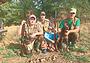 Два ученика на охоте: внук и легавая
