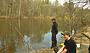 На весенней рыбалке